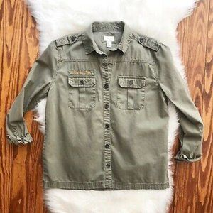 Military Parka, Green Cargo/Utility Jacket